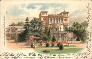 Stuttgart Villa Berg Kuenstlerkarte Kat. Stuttgart