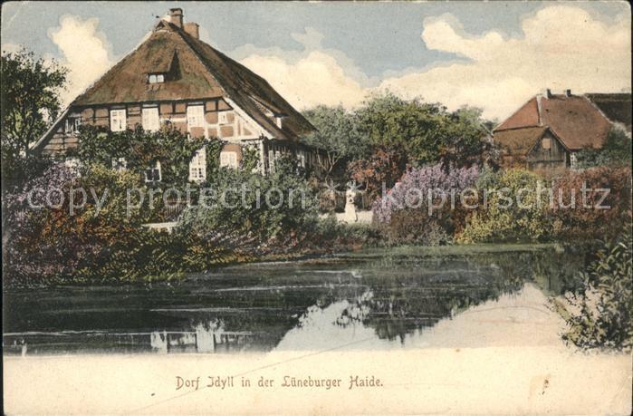 Lueneburger Heide Dorf Idylle Kat. Walsrode