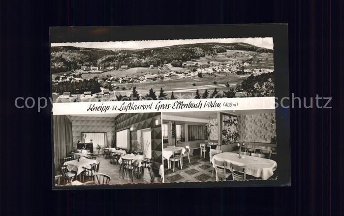 Gras Ellenbach Gesamtansicht Kneipp und Luftkurort Gasthaus Pension Zum Spessartskopf Kat. Grasellenbach