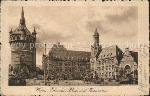 Worms Rhein Eleonoren Schule und Wasserturm