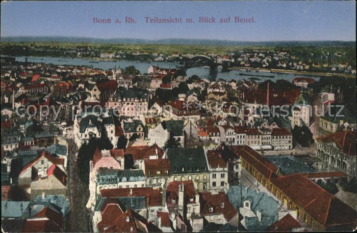 Bonn Rhein Panorama mit Beuel / Bonn /Bonn Stadtkreis