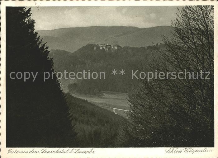 Laasphe Schloss Wittgenstein Laasphetal Kupfertiefdruck Kat. Bad Laasphe