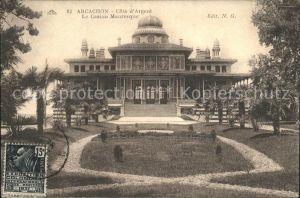 Arcachon Gironde Casino Mauresque Stempel auf AK Kat. Arcachon