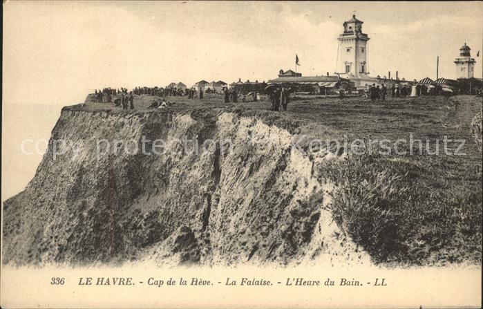 Le Havre Cap de la Heve Falaise Heure du Bain Phare Kat. Le Havre