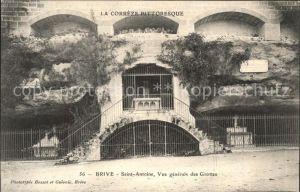 Brive Correze Saint Antoine vue generale des Grottes Kat. Correze