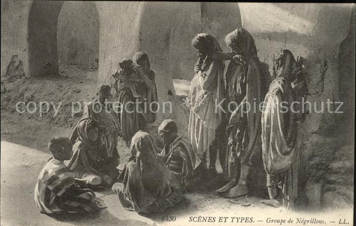 Afrika Africa Afrique Volksleben Typen Groupe de Negrillons Scenes et Types Kat. Niger
