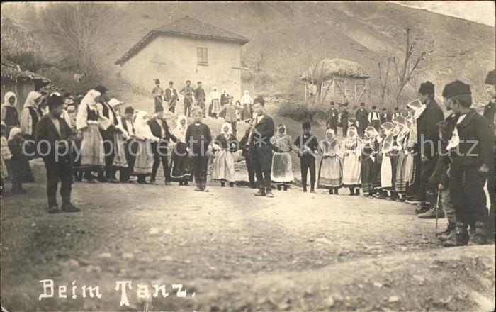 Mazedonien Beim Tanz Volkstanz Kat. Mazedonien
