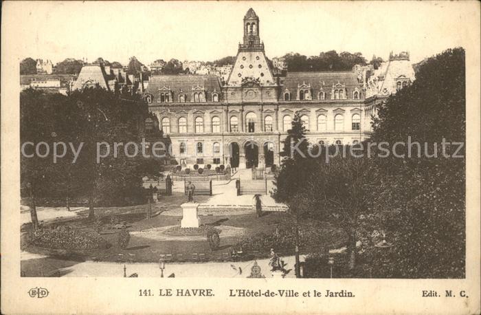 Le Havre Hotel de Ville et le Jardin Monument Kat. Le Havre