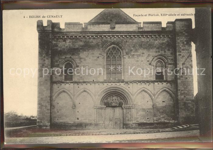 Cunault Eglise Facade et Portail XIII siecle