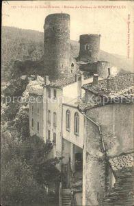 Rochetaillee Saint Etienne Ruines du Chateau Kat. Saint Etienne