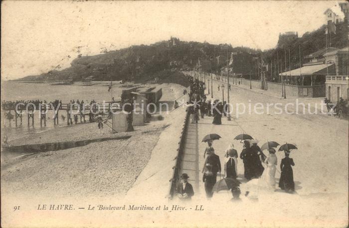 Le Havre Boulevard Maritime et la Heve Kat. Le Havre