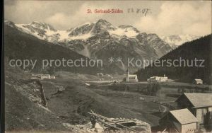 St Gertraud Sulden Panorama Suldental mit Alpen