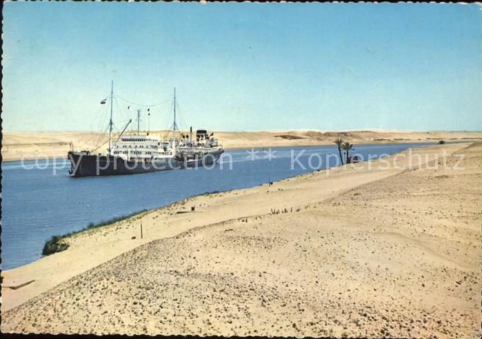 Suez Suez Kanal Schiff Kat. Aegypten