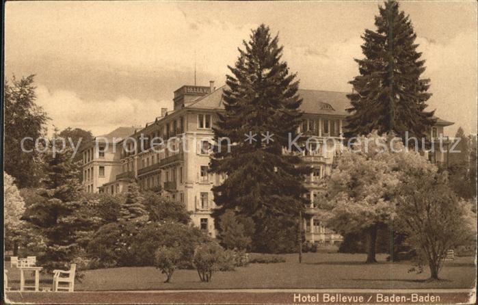 Baden Baden Hotel Bellevue Kat. Baden Baden
