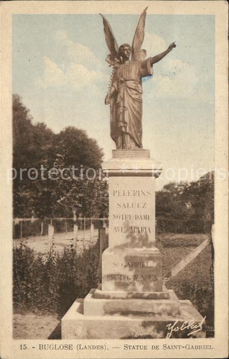 Buglose Statue de Saint Gabriel Monument
