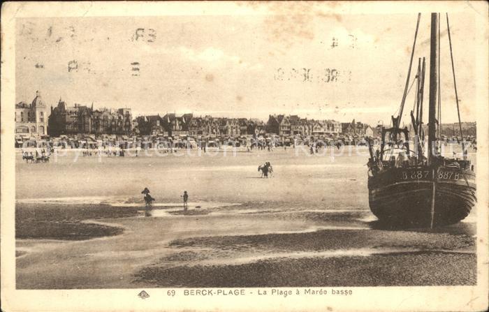 Berck-Plage Plage a maree basse / Berck /Arrond. de Montreuil