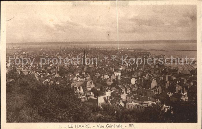 Le Havre Vue generale Kat. Le Havre