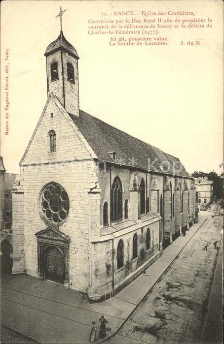 Nancy Lothringen Eglise des Cordeliers XV siecle / Nancy /Arrond. de Nancy