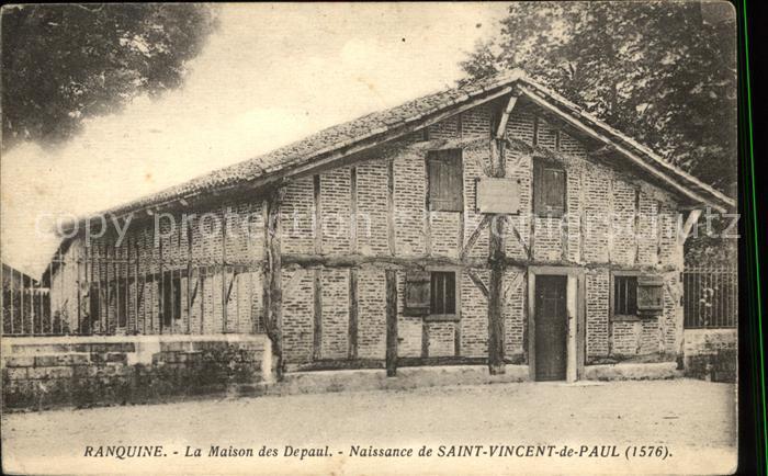 Ranquine Maison des Depaul Naissance de Saint Vincent de Paul