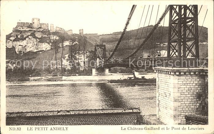 Le Petit Andely Chateau Gaillard Pont de Louviers