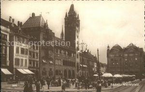 Basel BS Marktplatz Place du Marche Kat. Basel