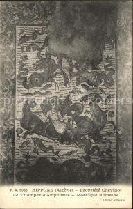 Hippone Propriete Chevillot Triomphe d Amphitrite Mosaique Romaine Kat. Bone Algerien