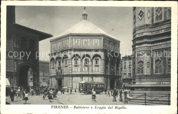 Firenze Toscana Battistero e Loggia del Bigallo Kat. Firenze