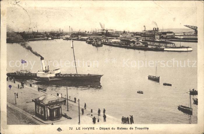 Le Havre Depart du Bateau de Trouville Port Kat. Le Havre