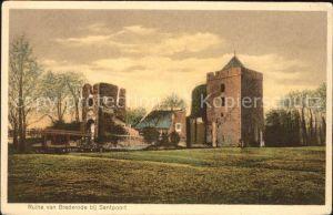 Santpoort Noord Ruine van Brederode / Velsen /