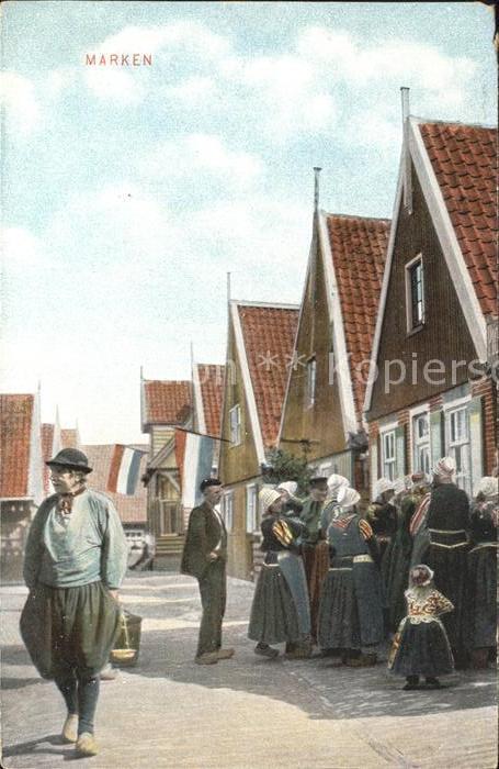 Marken Niederlande Bewohner des Dorfes Kat. Niederlande