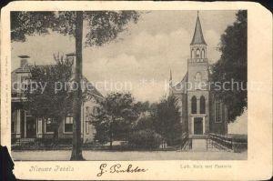 Nieuwe Pekela Luth. Kerk met Pastorie Kirche