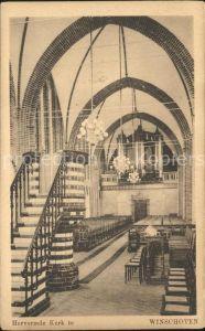 Winschoten Interieur Hervormde Kerk Kirche Kat. Niederlande