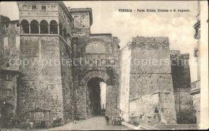 Perugia Umbria Porta Urbica Etrusca o di Augusto Kat. Perugia
