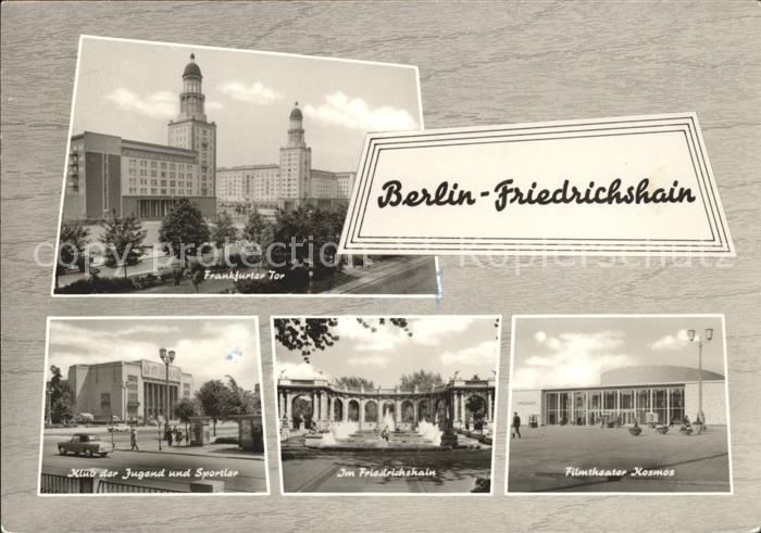 Friedrichshain Berlin Frankfurter Tor Klub der Jugend und Sportler Filmtheater Kosmos /  /