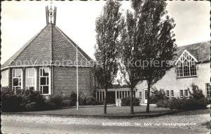 Scherpenzeel Geref. Kerk met Verenigingsgebouw Kirche