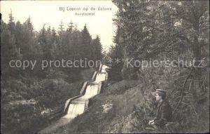 Loenen Naaldboomen Waterval Wasserfall Kat. Veluwe