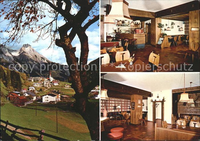 Pettnau Arlberg Ortsblick Cafe Schoenherr Kat. Landeck
