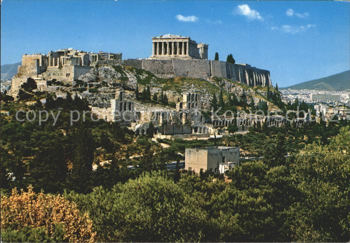 ak ansichtskarte athen griechenland akropolis antike staette kat nr ks66776 oldthing. Black Bedroom Furniture Sets. Home Design Ideas