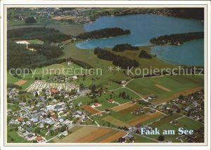 Faak am See Finkenstein Camping Poglitsch Fliegeraufnahme Kat. Finkenstein am Faaker See