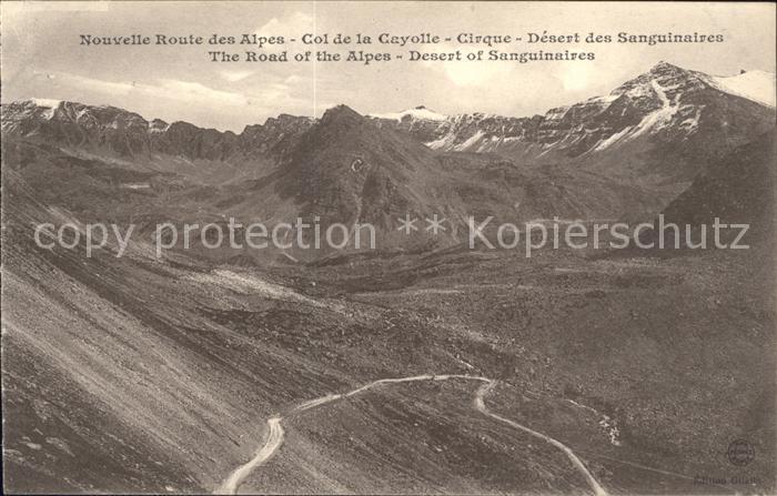 Col de la Cayolle Route des Alpes Desert des Sanguinaires