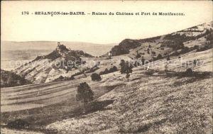Besancon les Bains Ruines du Chateau et Fort de Montfaucon Kat. Besancon Doubs