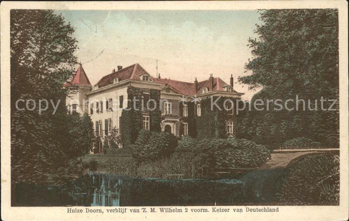 Doorn Niederlande Huize ZM Wilhelm II Schloss Kaiser Wilhelm / Utrechtse Heuvelrug /Utrecht