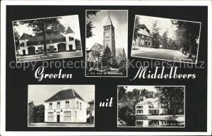 Middelbeers Boswachterswoning Dorpsstraat Gemeentehuis Kerk