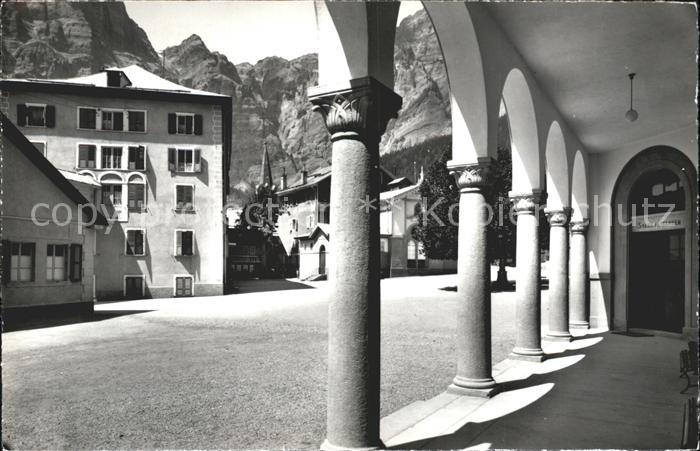 Leukerbad Gemmi Dorfplatz Grands Bains Kat. Loeche les Bains