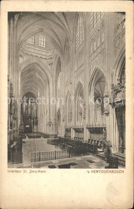 S Hertogenbosch Interieur St Jans Kerk Kat. Den Bosch Niederlande Nr ...