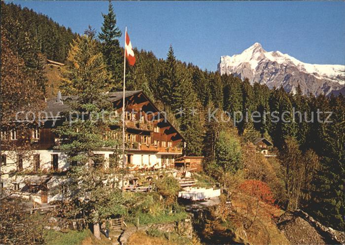 Grindelwald Jugendherberge Grindelwald mit Wetterhorn Kat. Grindelwald