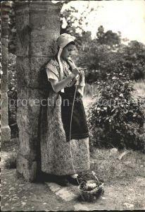 Provence Region Junge Frau in Tracht Kat. Aix en Provence