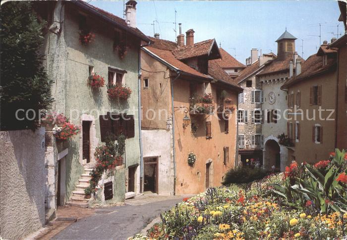 Le Vieil Annecy Petite Horloge Faubourg Sainte Claire et la cote Nemours