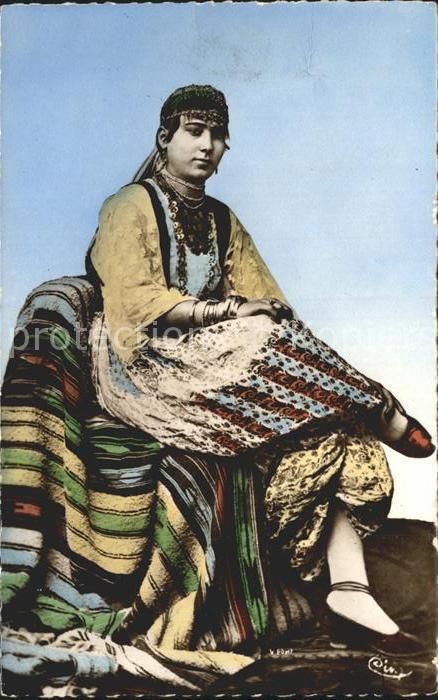 Mauresque Frau in Tracht Kat. Mauretanien