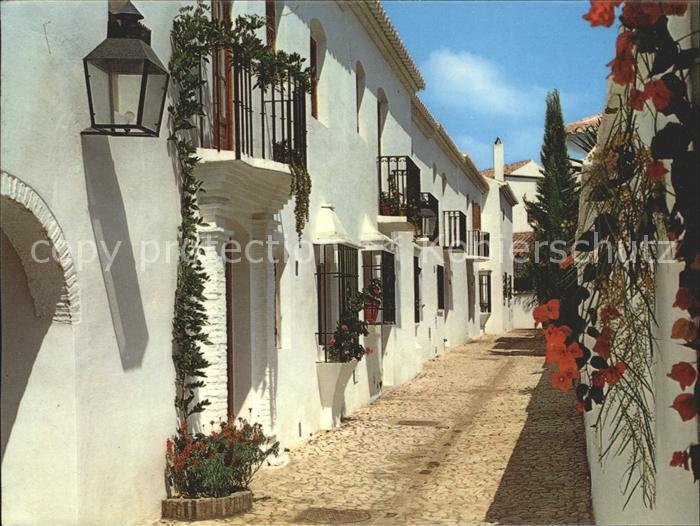 Fuengirola Costa del Sol Barrio Pueblo Lopez calle tipico Kat. Spanien